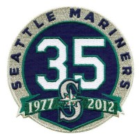 Stitched Seattle Mariners 35th Anniversary Jersey Patch