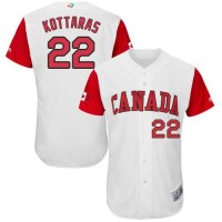 Team Canada #22 George Kottaras White 2017 World Baseball Classic Authentic Stitched MLB Jersey
