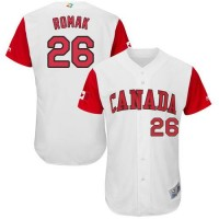 Team Canada #26 Jamie Romak White 2017 World Baseball Classic Authentic Stitched MLB Jersey