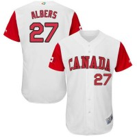 Team Canada #27 Andrew Albers White 2017 World Baseball Classic Authentic Stitched MLB Jersey