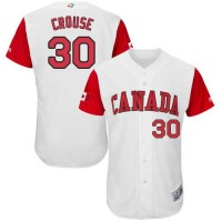 Team Canada #30 Michael Crouse White 2017 World Baseball Classic Authentic Stitched MLB Jersey