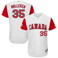 Team Canada #35 Dustin Molleken White 2017 World Baseball Classic Authentic Stitched MLB Jersey