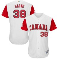 Team Canada #38 Eric Gagne White 2017 World Baseball Classic Authentic Stitched MLB Jersey