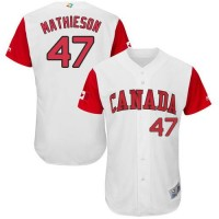 Team Canada #47 Scott Mathieson White 2017 World Baseball Classic Authentic Stitched MLB Jersey
