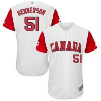 Team Canada #51 Jim Henderson White 2017 World Baseball Classic Authentic Stitched MLB Jersey