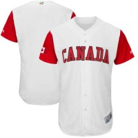 Team Canada Blank White 2017 World Baseball Classic Authentic Stitched MLB Jersey