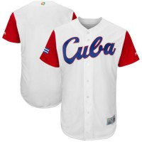 Team Cuba Blank White 2017 World Baseball Classic Authentic Stitched MLB Jersey