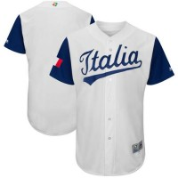 Team Italy Blank White 2017 World Baseball Classic Authentic Stitched MLB Jersey