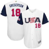 Team USA #18 Luke Gregerson White 2017 World Baseball Classic Authentic Stitched MLB Jersey