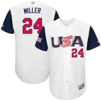 Team USA #24 Andrew Miller White 2017 World Baseball Classic Authentic Stitched MLB Jersey