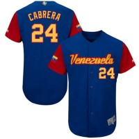 Team Venezuela #24 Miguel Cabrera Royal 2017 World Baseball Classic Authentic Stitched MLB Jersey