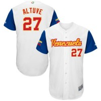 Team Venezuela #27 Jose Altuve White 2017 World Baseball Classic Authentic Stitched MLB Jersey