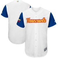Team Venezuela Blank White 2017 World Baseball Classic Authentic Stitched MLB Jersey