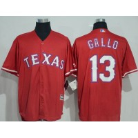 Texas Rangers #13 Joey Gallo Red New Cool Base Stitched Baseball Jersey