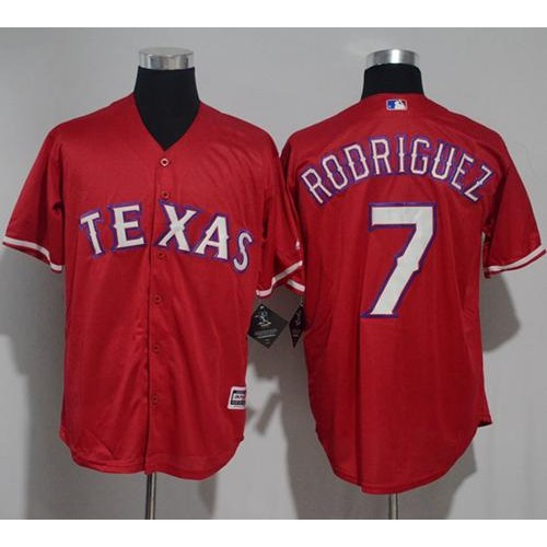 sale retailer b6d0a da6e8 Texas Rangers #7 Ivan Rodriguez Red New Cool Base Stitched ...