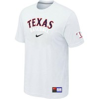 Texas Rangers Nike Short Sleeve Practice Baseball T-Shirts White