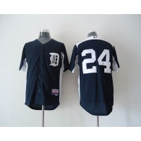 Tigers #24 Miguel Cabrera Navy Blue 2011 Home Cool Base BP Stitched Baseball Jersey