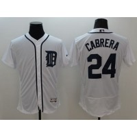Tigers #24 Miguel Cabrera White Flexbase Authentic Collection Stitched Baseball Jersey