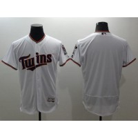 Twins Blank White Flexbase Authentic Collection Stitched Baseball Jersey