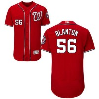 Washington Nationals #56 Joe Blanton Red Flexbase Authentic Collection Stitched MLB Jersey