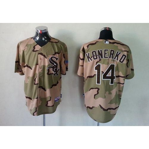 18ed1dc03ed White Sox  14 Paul Konerko Camo Commemorative Military Day Cool Base  Stitched Baseball Jersey