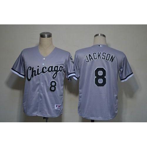 reputable site 5c19a ba9e2 White Sox #8 Bo Jackson Grey Stitched Baseball Jersey