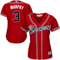 Women's Atlanta Braves #3 Dale Murphy Red Alternate Stitched MLB Jersey