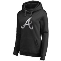 Women's Atlanta Braves Platinum Collection Pullover Hoodie Black