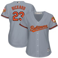 Women's Baltimore Orioles #23 Joey Rickard Grey Road Stitched MLB Jersey