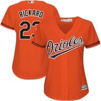 Women's Baltimore Orioles #23 Joey Rickard Orange Alternate Stitched MLB Jersey