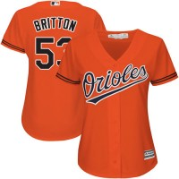 Women's Baltimore Orioles #53 Zach Britton Orange Alternate Stitched MLB Jersey