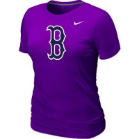 Women's Baseball Boston Red Sox Heathered Nike Blended T-Shirt Purple
