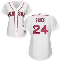 Women's Boston Red Sox #24 David Price White Home Stitched MLB Jersey
