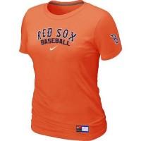 Women's Boston Red Sox Nike Short Sleeve Practice Baseball T-Shirts Orange