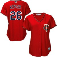 Women's Minnesota Twins #26 Max Kepler Red Alternate Stitched MLB Jersey