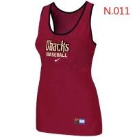Women's Nike Arizona Diamondbacks Tri-Blend Racerback Stretch Tank Top Red