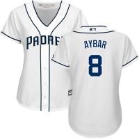 Women's San Diego Padres #8 Erick Aybar White Home Stitched MLB Jersey