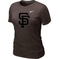 Women's San Francisco Giants Heathered Nike Brown Blended T-Shirt