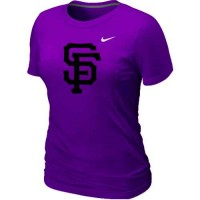 Women's San Francisco Giants Heathered Nike Purple Blended T-Shirt