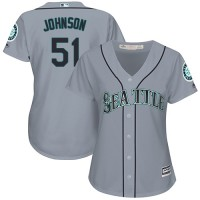 Women's Seattle Mariners #51 Randy Johnson Grey Road Stitched MLB Jersey
