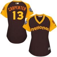 Women's St.Louis Cardinals #13 Matt Carpenter Brown 2016 All-Star National League Stitched Baseball Jersey
