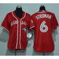 Women's Toronto Blue Jays #6 Marcus Stroman Red Canada Day Stitched Baseball Jersey
