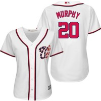 Women's Washington Nationals #20 Daniel Murphy White Home Stitched MLB Jersey