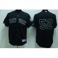Yankees #52 C.C. Sabathia Stitched Black Baseball Jersey