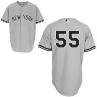 Yankees #55 Russell Martin Grey Stitched Baseball Jersey