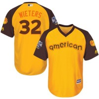 Youth Orioles #32 Matt Wieters Gold 2016 All-Star American League Stitched Baseball Jersey