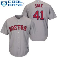 Youth Boston Red Sox #41 Chris Sale Grey Cool Base Stitched MLB Jersey