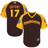 Youth Chicago Cubs #17 Kris Bryant Brown 2016 All-Star National League Stitched Baseball Jersey