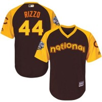 Youth Chicago Cubs #44 Anthony Rizzo Brown 2016 All-Star National League Stitched Baseball Jersey