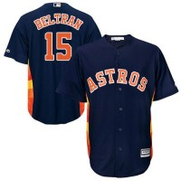 Youth Houston Astros #15 Carlos Beltran Navy Blue Cool Base Stitched MLB Jersey